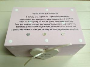 Shabby Personalised Chic Bridesmaid Maid Matron Honour Sister EXTRA LARGE Gift
